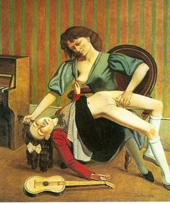 Balthasar Balthus, The Guitar Lesson Fine Art Reproduction Oil Painting