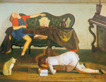 Balthasar Balthus, The Living Room II Fine Art Reproduction Oil Painting