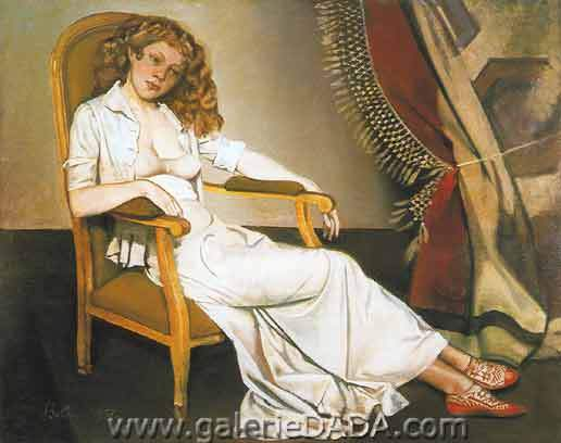 Balthasar Balthus, The White Skirt Fine Art Reproduction Oil Painting