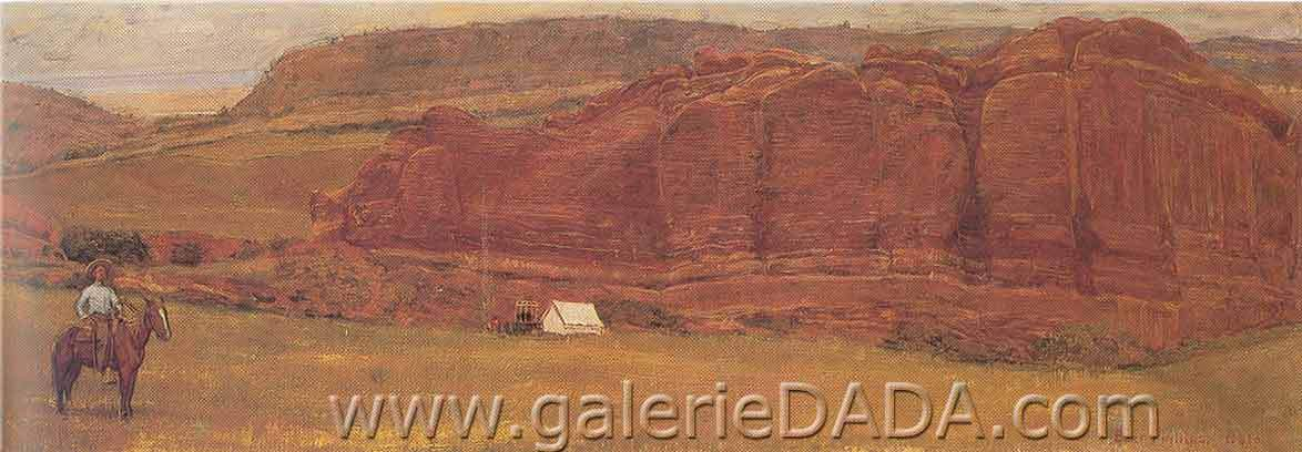 Bert Geer Philips, Our Camp at Red Rocks Fine Art Reproduction Oil Painting