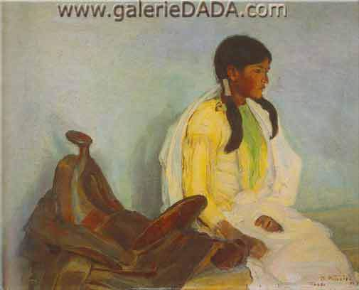 Bert Geer Philips, Portrait of an Indian Girl Fine Art Reproduction Oil Painting