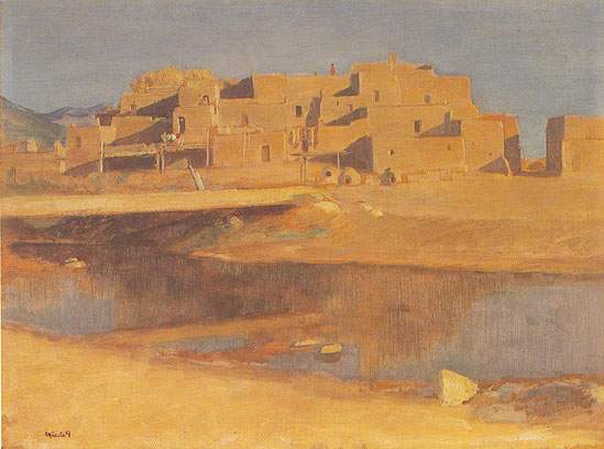 Taos Pueblo - Bert Geer Bert Geer, Fine Art Reproduction Oil Painting