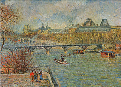 Camille Pissarro, The Seine and the Pont des Arts, Paris Fine Art Reproduction Oil Painting