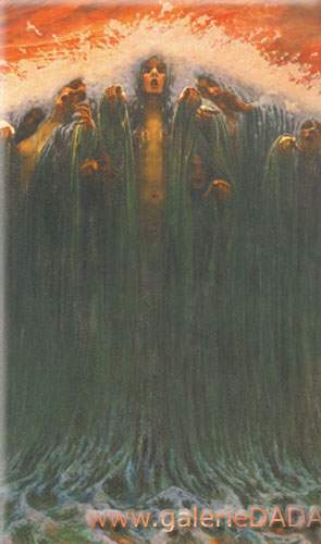 Carlos Schwabe, The Wave Fine Art Reproduction Oil Painting