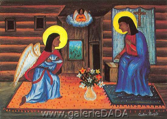 Castera Bazile, Annunciation Fine Art Reproduction Oil Painting
