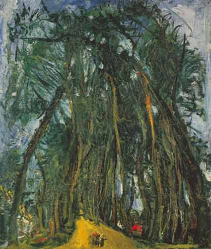 Chaim Soutine, Avenue of Trees at Chartres Fine Art Reproduction Oil Painting