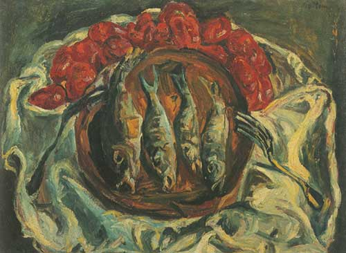 Chaim Soutine, Fish and Tomatoes Fine Art Reproduction Oil Painting