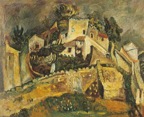 Landscape at Cagnes - Chaim Chaim, Fine Art Reproduction Oil Painting