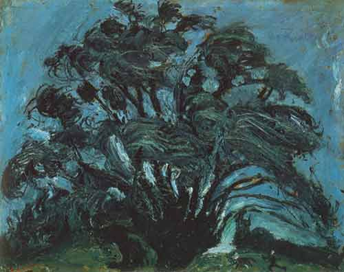 Chaim Soutine, Trees in the Wind Fine Art Reproduction Oil Painting