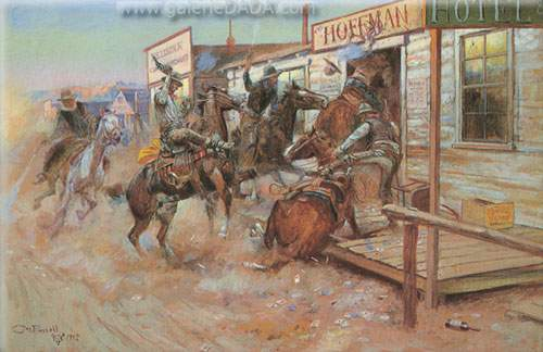 Charles M. Russell, In Without Knocking Fine Art Reproduction Oil Painting