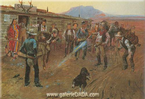 Charles M. Russell, The Tenderfoot Fine Art Reproduction Oil Painting