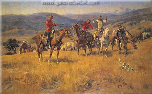 Charles M. Russell, When the Law Dulls the Edge of Chance Fine Art Reproduction Oil Painting