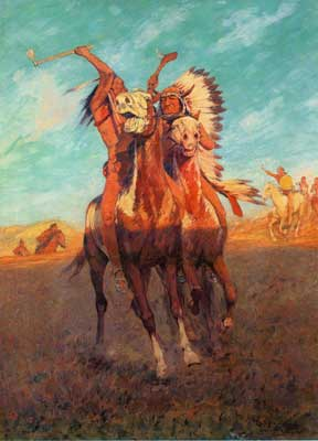 Charles Schreyvogel, Fight to the Finish Fine Art Reproduction Oil Painting