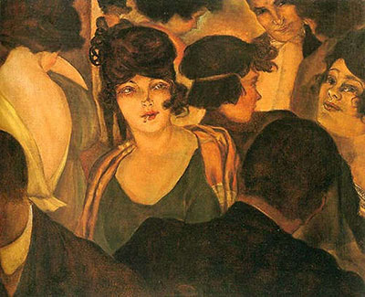 Christian Schad, Cafe dItalia Fine Art Reproduction Oil Painting