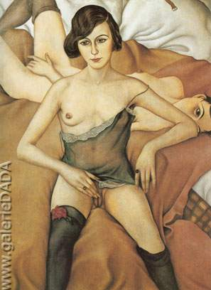 Christian Schad, Two Girlfriends Fine Art Reproduction Oil Painting