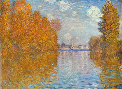 Claude Monet, Autumn at Argenteuil Fine Art Reproduction Oil Painting