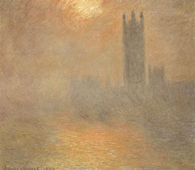 Houses Of Parliament Fog Effect by Claude Monet Oil Painting Art Reproduction