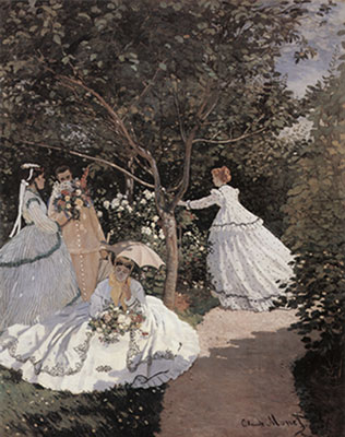 Claude Monet, Women in the Garden Fine Art Reproduction Oil Painting