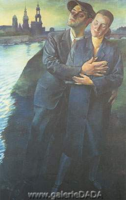 Conrad Felixmuller, Lovers from Dresden Fine Art Reproduction Oil Painting