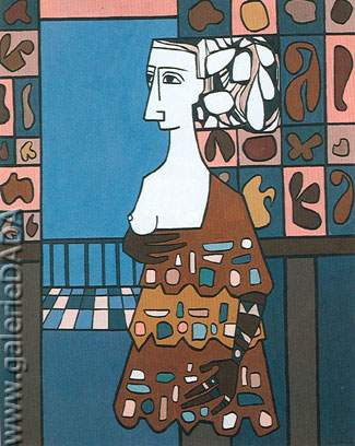 Cundo Bermudez, Mujer Fine Art Reproduction Oil Painting