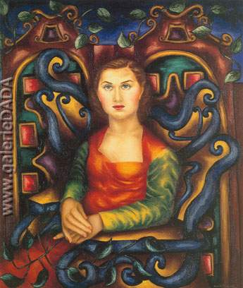 Cundo Bermudez, Portrait of Lydia Fine Art Reproduction Oil Painting