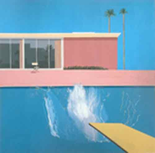 David Hockney, A Bigger Splash Fine Art Reproduction Oil Painting