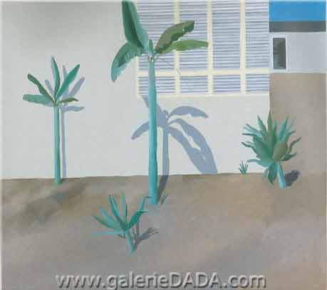 David Hockney, A Hollywood Garden Fine Art Reproduction Oil Painting