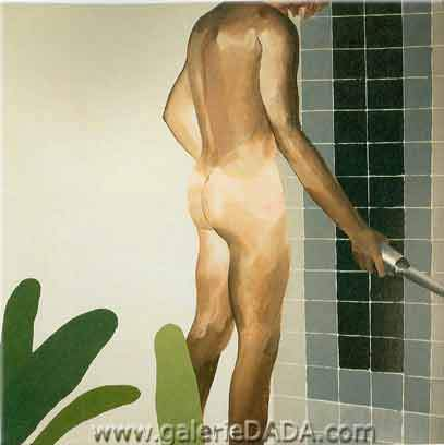 David Hockney, Boy About to Take a Shower Fine Art Reproduction Oil Painting