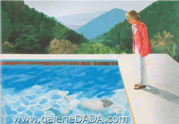 David Hockney, Portrait of an Artist Fine Art Reproduction Oil Painting