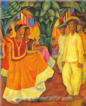 Diego Rivera, Dance in Tehuantepec Fine Art Reproduction Oil Painting