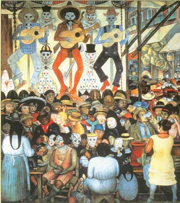 Diego Rivera, Day of the Dead Fine Art Reproduction Oil Painting