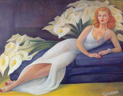 Diego Rivera, Portrait of Natasha Gelman Fine Art Reproduction Oil Painting