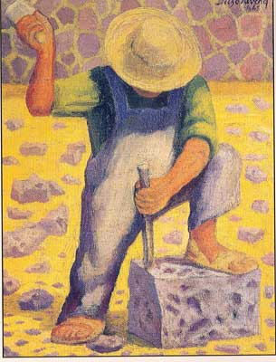 Diego Rivera, Stone Worker Fine Art Reproduction Oil Painting