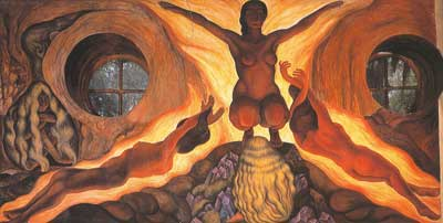Diego Rivera, Subterranean Forces Fine Art Reproduction Oil Painting
