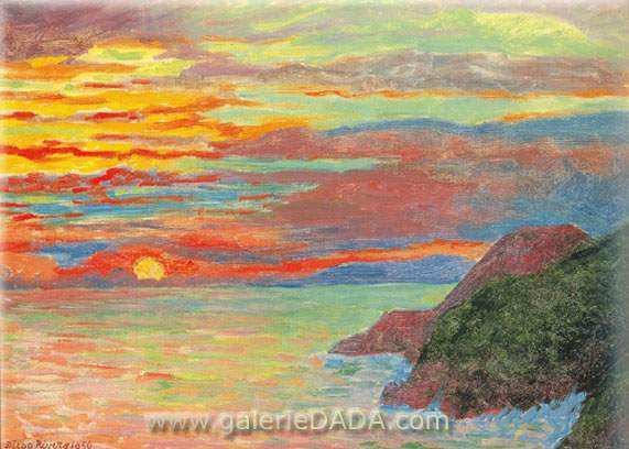 Diego Rivera, Sunset Fine Art Reproduction Oil Painting