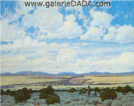 E. Martin Hennings, Rio Grande Gorge Fine Art Reproduction Oil Painting