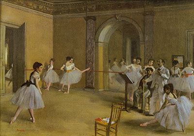 Edgar Degas, The Dance Foyer at the Opera Fine Art Reproduction Oil Painting