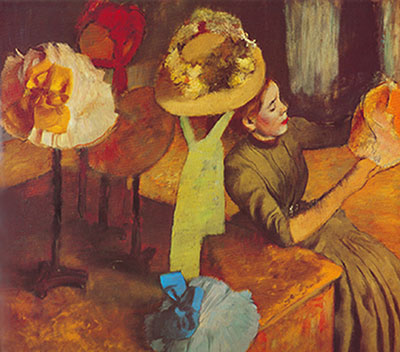Edgar Degas, The Millernery Shop Fine Art Reproduction Oil Painting