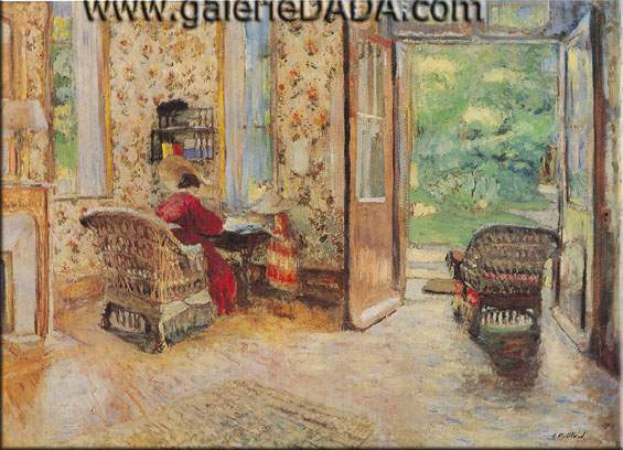 Edouard Vuillard, Entrance to the Garden Fine Art Reproduction Oil Painting