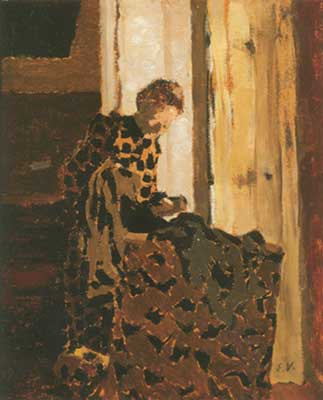 Edouard Vuillard, Femme a la Fenetre Fine Art Reproduction Oil Painting