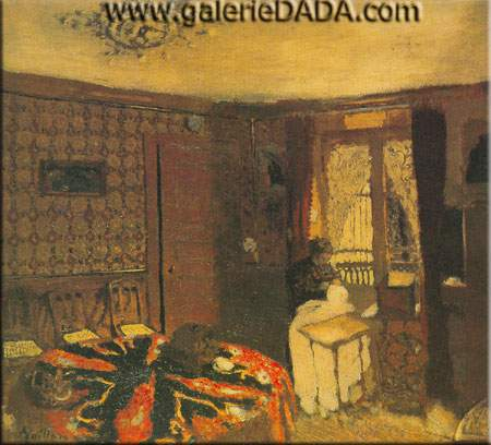 Edouard Vuillard, Interior with Figure Fine Art Reproduction Oil Painting