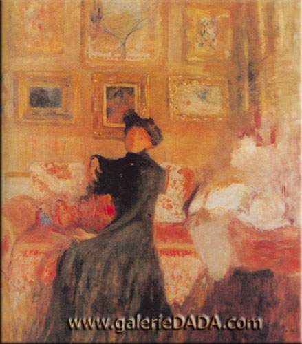 Edouard Vuillard, Le Divan Rouge Fine Art Reproduction Oil Painting