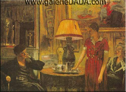 Edouard Vuillard, The Visit Fine Art Reproduction Oil Painting