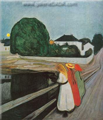 Edvard Munch, Girls on the Jetty Fine Art Reproduction Oil Painting