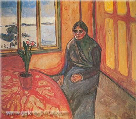Edvard Munch, Melancholy (Laura) Fine Art Reproduction Oil Painting