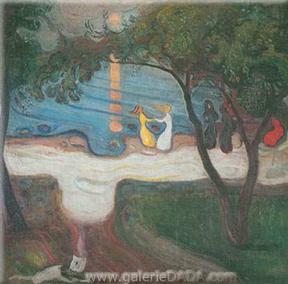 Edvard Munch, The Dance on the Shore Fine Art Reproduction Oil Painting