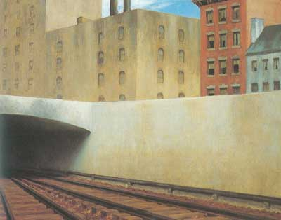 Edward Hopper, Approaching a City Fine Art Reproduction Oil Painting