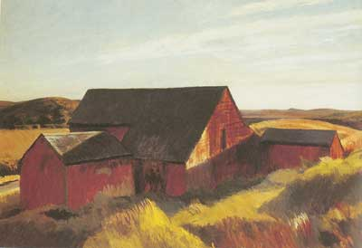 Edward Hopper, Cobbs Barn, South Truro Fine Art Reproduction Oil Painting