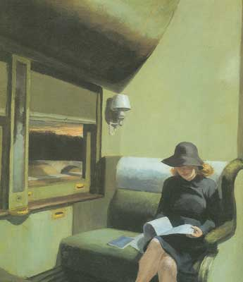 Edward Hopper, Compartment C, Car Fine Art Reproduction Oil Painting