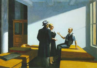 Edward Hopper, Conference at Night Fine Art Reproduction Oil Painting